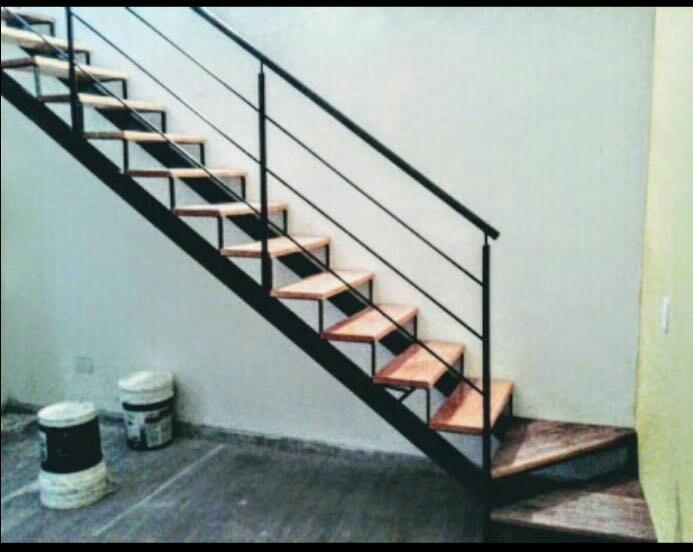 Escaleras hierro y madera rectas 4mt 0 60cm ancho 4000 400 00 en mercado libre Escalera hierro y madera