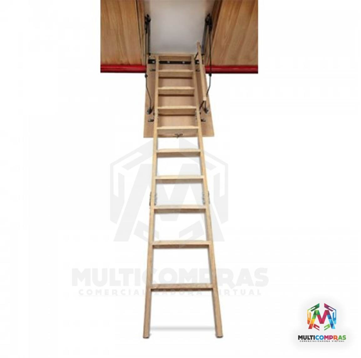 Escaleras madera tico altillo desv n estudio techo cuarto en mercado libre - Escalera plegable altillo ...
