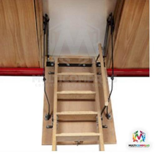 Escaleras madera tico altillo desv n estudio techo cuarto - Escalera plegable altillo ...