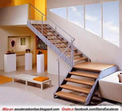 escaleras metálicas modernas , barandas