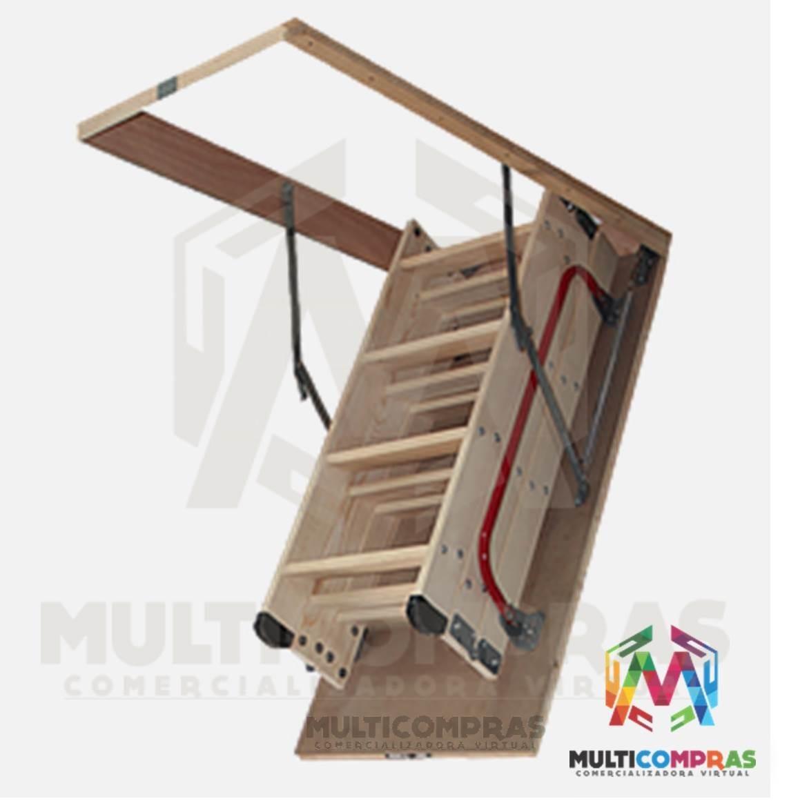 Escaleras para altillo tico plegables techo cielo escondida en mercado libre - Como hacer un altillo de madera ...