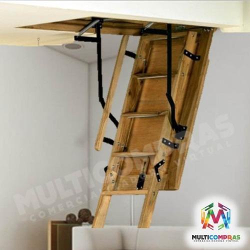 Escaleras para altillo tico plegables techo cielo - Escaleras para segundo piso en poco espacio ...