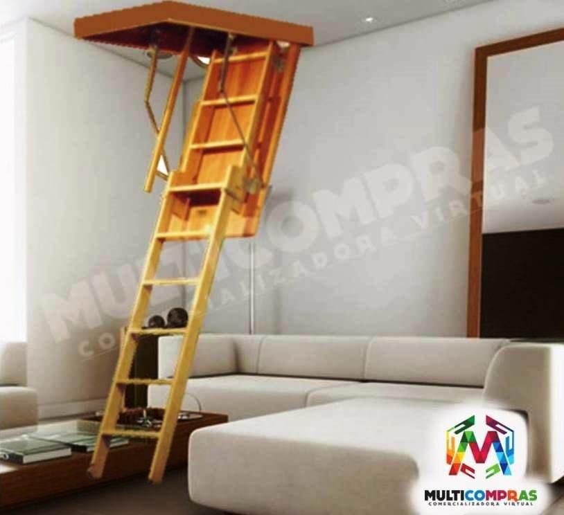 Escaleras para altillo tico plegables techo cielo escondida en mercado libre - Escalera plegable para altillo ...