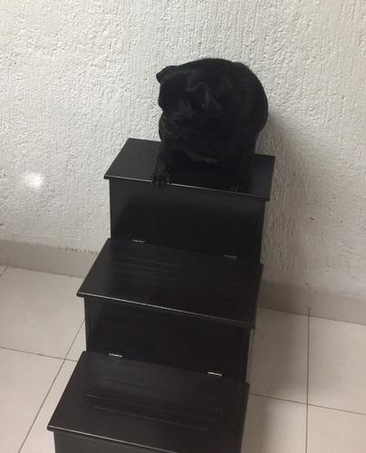 escaleras para mascota de 3 escalones y espacio para guardar