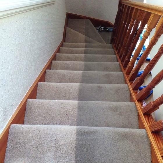 Escaleras revestidas con alfombra en mercado libre - Alfombra para escalera ...