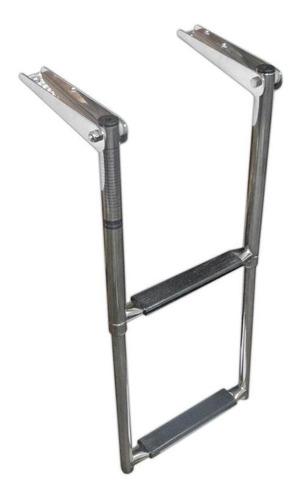 escaleras telescopico 2 escalones - acero inoxidable