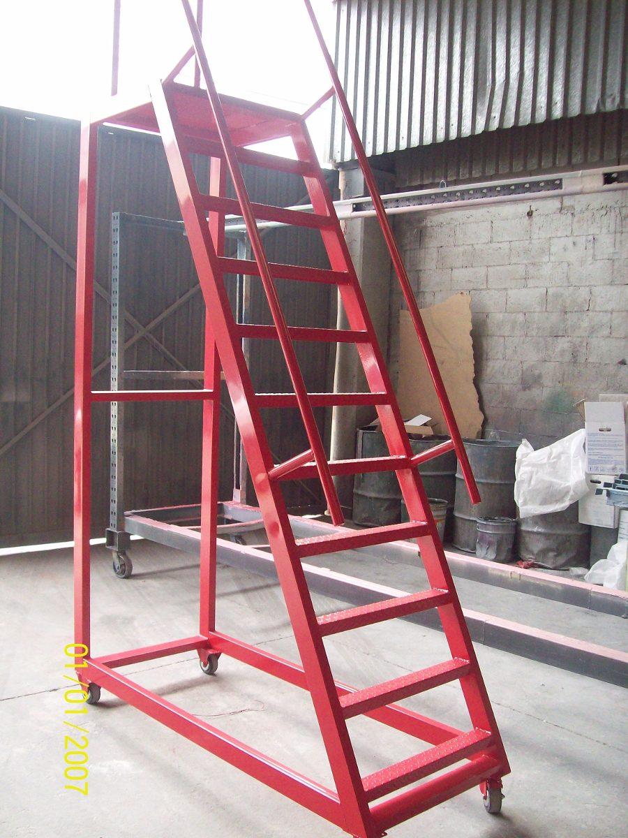 Escaleras tipo avion para almacen altura 1 en - Escaleras para almacenes ...