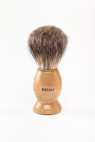 escali 100% pure badger brocha de afeitar