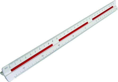 escalímetro triangular 30cm trident 7230/1 uso profissional