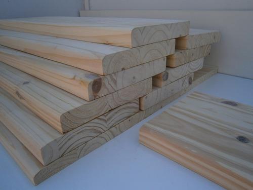 escalón de pino de 32 mm x 24,5 cm x 0,75 cm lijados!!