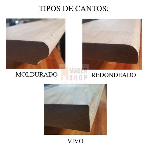 escalon madera dura lapacho, cep.lijado, de 30 mm de espesor. - mader shop