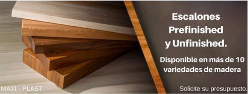 escalones prefinished de madera - pinotea, viraro, roble