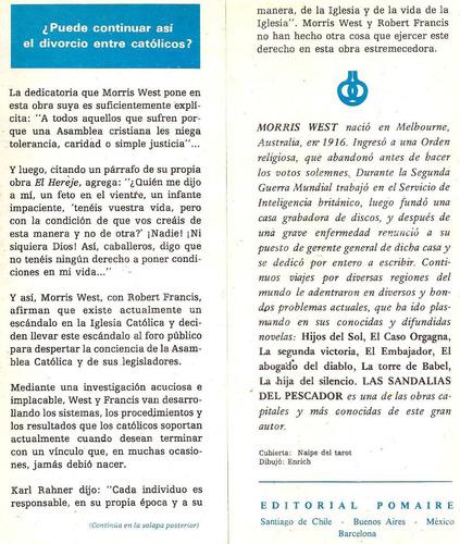escándalo en la asamblea morris west c/ r. francis. pomaire.