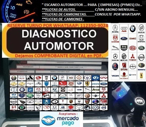 escaneo automotor a domicilio-particular-flotas de empresas!