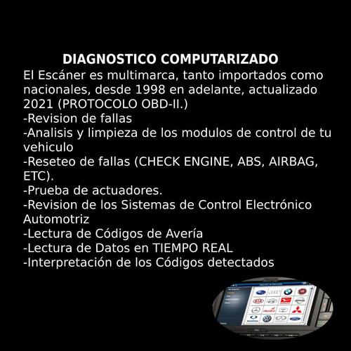 escaneo diagnóstico inspección pre compra autos