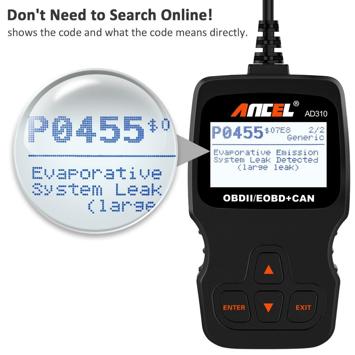 Escáner Ancel Ad310 Obd Ii, Código Error Diagnostico Auto ...