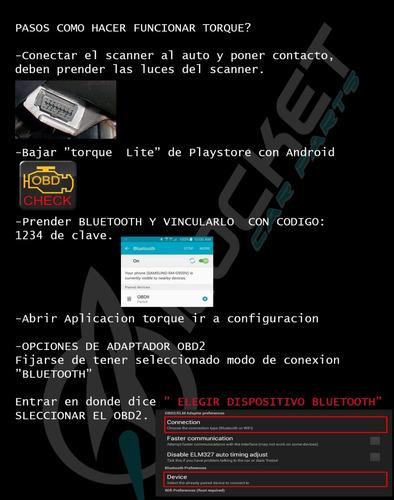 escaner automotor odb2 elm327 bluetooth retiras balvanera !!