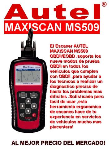 escaner automotriz autel ms509 obd2+eobd+canbus en español