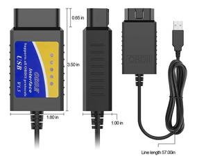 Escaner Automotriz Elm327 Interfaz Usb Obd2 Software Nuevo!