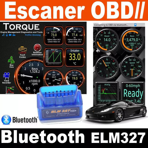escaner automotriz obdii obd2 bluetooth elm327 multimarca !!