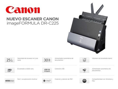 escaner canon imageformula dr-c225