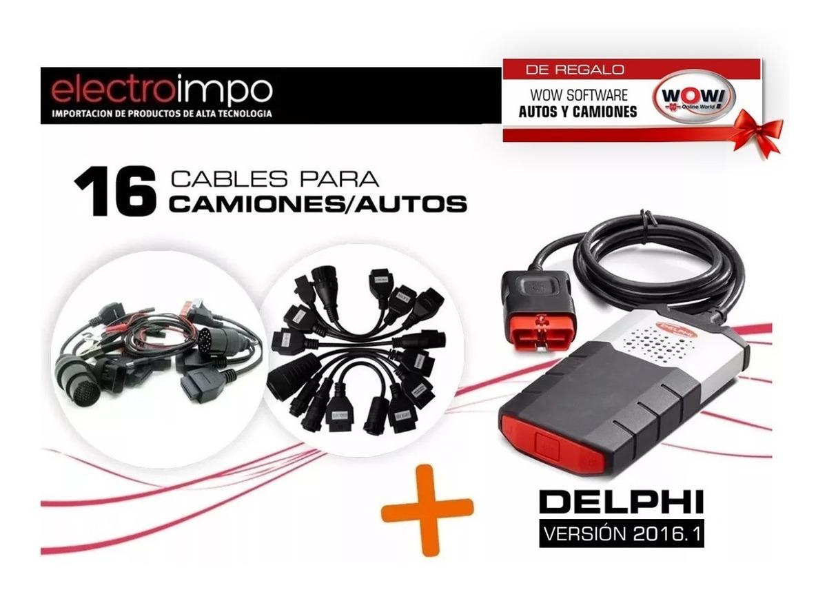 Escaner Delphi Ds150 + Kit 16 Cables + Wow + Adapt Cummins