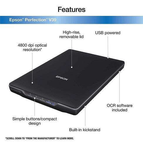 escaner epson perfection v39 cama plana fotografia 4800dpi