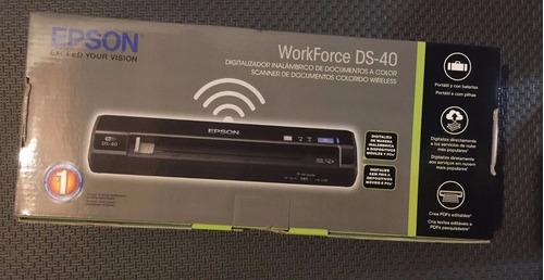 escáner epson workforce ds-40 color wifi usb