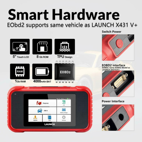 escaner launch diagnistico automotriz touch screen 2019