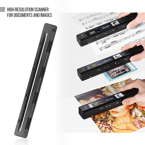 escáner portátil handheld de la varita sin hilos documento