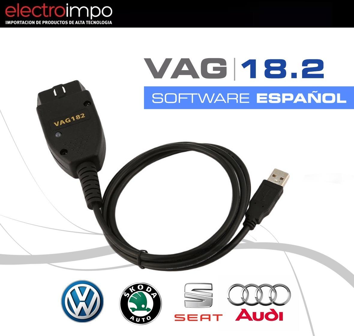 VAGCOM 17.1.3 HEX ingl/és CAN Cable USB para diagn/óstico de fallas de la interfaz USB