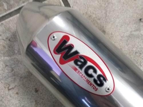 escapamento cbx 250 twister esportivo wacs tyranno (6209)