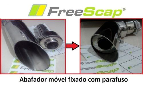 escapamento com flauta móvel bandit 650 1250 e gsx 650f inox