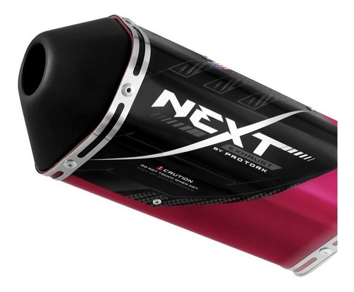 escapamento esportivo next cbx 250 twister pink protork