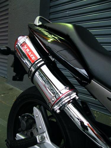 escapamento esportivo xrace para moto honda hornet 600