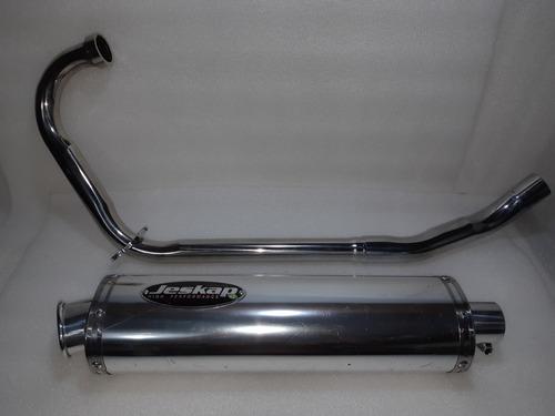 escapamento jeskap cbx250 twister honda ponteira alumínio