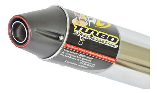 escapamento ponteira turbo pro tork  xre 190 300 bros 160