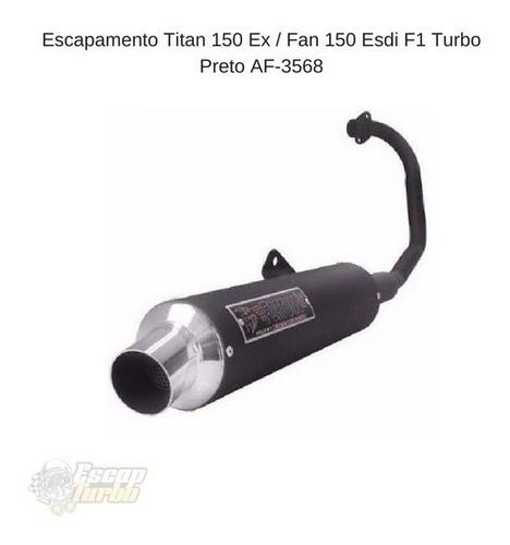 escapamento titan/ fan 150 14/15 esdi/ ex  f1 turbo fortuna