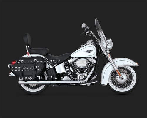 escapamento vance&hines softail duals 16893 softail ate 2017
