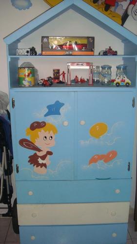 escaparate closet bebe niño color azul