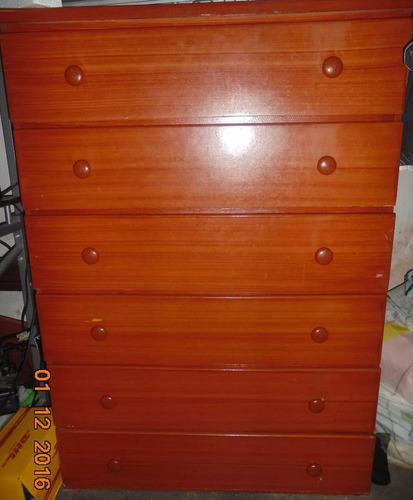 escaparate de 6 gavetas madera alta calidad marrón