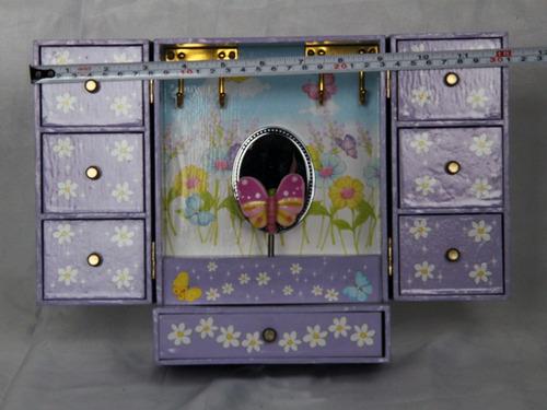 escaparate joyero musical para niñas, madera, funcional