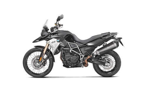 escape akrapovic slip on black bmw f 650 700 800 gs mdelta