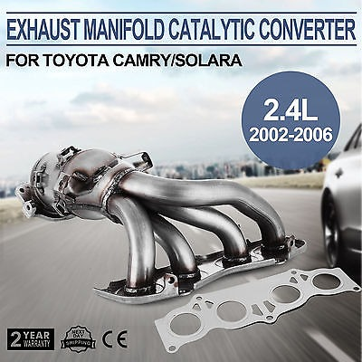 Escape Catalizador Colector Para Toyota Camry Solara 24l