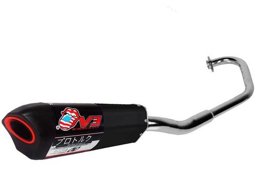 escape esportivo moto v3 preto nova cg titan fan 150 2014