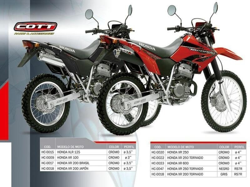 Escape Moto Honda Xr 250 Tornado Cott R7r Motoscba 4 300 00 En