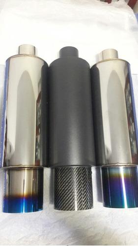 escape muffler n1 universal resonador punta quemada tuning