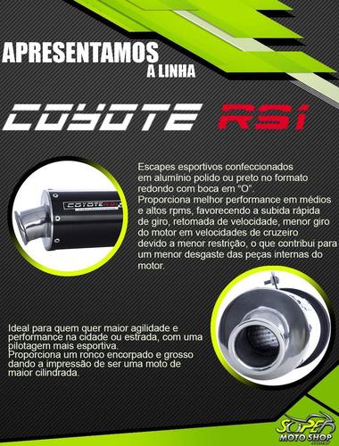 escape / ponteira alumínio coyote rs1 preto fazer 150 yamaha