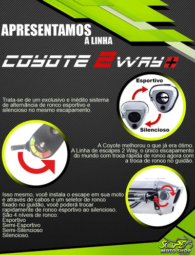 escape ponteira coyote 2 way + junior bros 160 2015»