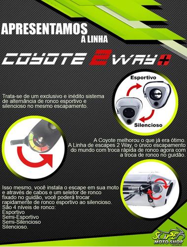 escape ponteira coyote 2 way + mais  twister cb 250 2015»